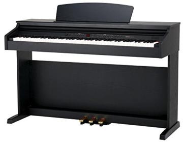 Classic Cantabile DP-50 SM E-Piano (Digitalpiano mit Hammermechanik, 88 Tasten, 2 Anschlüsse für Kopfhörer, USB, LED, 3 Pedale, Piano für Anfänger) schwarz matt - 1