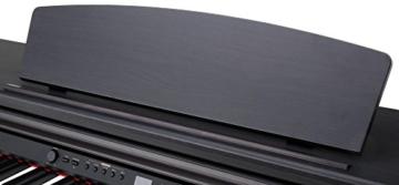 Classic Cantabile DP-50 SM E-Piano (Digitalpiano mit Hammermechanik, 88 Tasten, 2 Anschlüsse für Kopfhörer, USB, LED, 3 Pedale, Piano für Anfänger) schwarz matt - 5