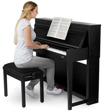 Classic Cantabile UP-1 SM E-Piano Deluxe Set (inklusive Pianobank, Kopfhörer und Klavierschule, Dämpfersimulation, MP3-Recorder, Mic In, OLED Display, 40 hochwertige Sounds, 3 Pedale ) schwarz - 3