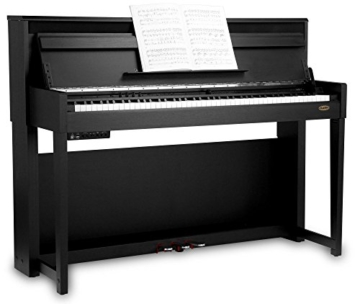 Classic Cantabile UP-1 SM E-Piano Deluxe Set (inklusive Pianobank, Kopfhörer und Klavierschule, Dämpfersimulation, MP3-Recorder, Mic In, OLED Display, 40 hochwertige Sounds, 3 Pedale ) schwarz - 4