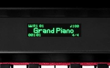 Classic Cantabile UP-1 SM E-Piano Deluxe Set (inklusive Pianobank, Kopfhörer und Klavierschule, Dämpfersimulation, MP3-Recorder, Mic In, OLED Display, 40 hochwertige Sounds, 3 Pedale ) schwarz - 5
